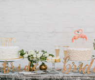 Bride dessert table