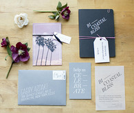 Blue invitations