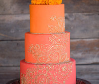Orange and gold cake