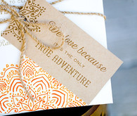 Rustic Moroccan invitation