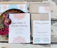Rustic Moroccan invitations