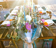 Rustic moroccan wedding tablescape