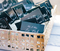 Black escort cards