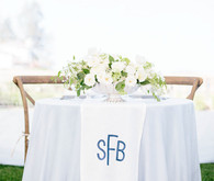 White and blue sweetheart table
