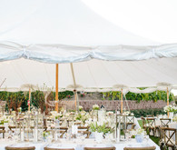 White wedding reception