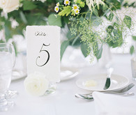 White table number