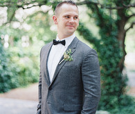 Groom in grey suit