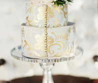 Gold and white cake