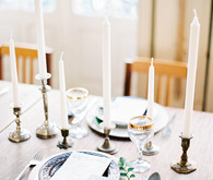 Ethereal vintage wedding tablescape