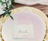 Watercolor escort card