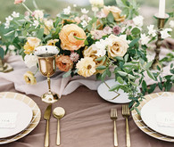 Organic coastal tablescape