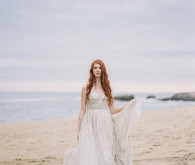 Gold Sarah Seven wedding dress