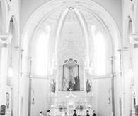 Wedding church ceremony