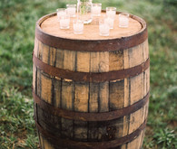 Rustic barrel decor