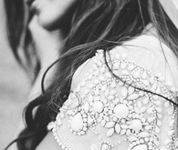 Bride wedding dress details
