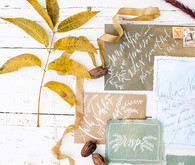 Rustic outdoor invitations