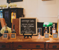 Guestbook with champagne bottles