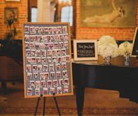 Picture escort card sign