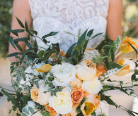 Summer Wedding Orange Bouquets