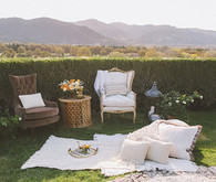 Summer Wedding Decor lounge
