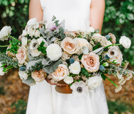 Rose and anemone centerpiece
