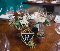 Geometric chalk table numbers