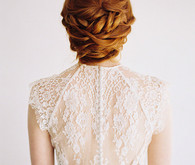 Low twisted updo