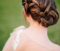Side braid bridal hairstyle