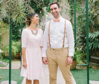 Pastel garden wedding inspiration
