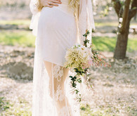 Cherry blossom maternity photos