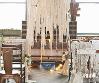 Industrial Wedding Ceremony Decor