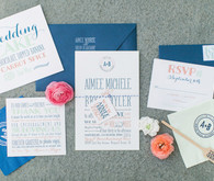 Modern Nautical Wedding Invitations