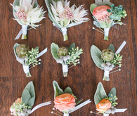 Modern Nautical Wedding Boutonnieres
