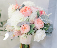 White and pink peony bouquet