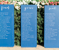 Modern Nautical Wedding Blue Escort Card Signage
