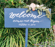 Modern Nautical Blue Wedding Signage
