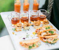 Modern Nautical Wedding Food