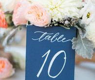 Modern Nautical Wedding Blue Table Numbers