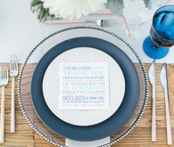 Modern Nautical Wedding Blue and White Place Setting