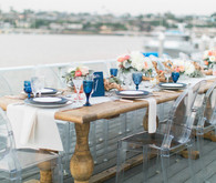 Modern Nautical Wedding Tablescape