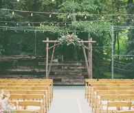 Backyard Utah Wedding Ceremony