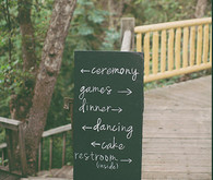 Backyard Utah Wedding Chalkboard Signage