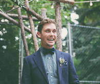 Backyard Utah Wedding Groom