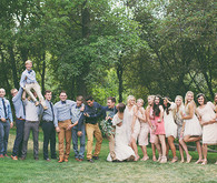 Backyard Utah Wedding Party