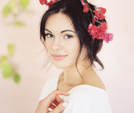 Modern Spring Bride Flower Crown