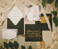 Rustic Black and White Wedding Invitations