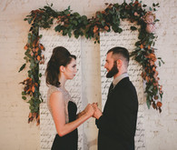 Rustic Black and White Wedding Ceremony