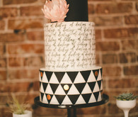 Modern Black and White Wedding Cake Inspiration
