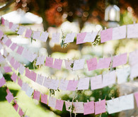 Romantic Outdoor Napa Wedding Escort Cards