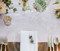 Romantic Outdoor Napa Wedding Place Setting